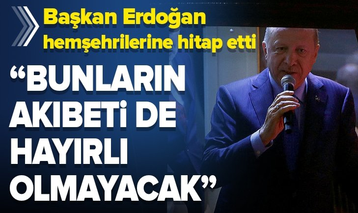 Başkan Erdoğan Rize'de vatandaşlara hitap etti