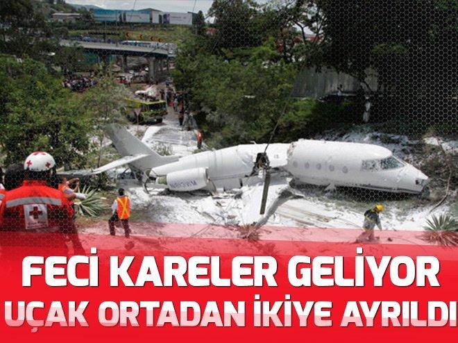 Honduras Tegucigalpa'da uçak düştü