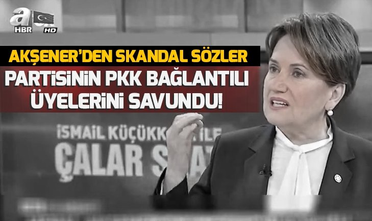 İyi Parti Genel Başkanı Meral Akşener, PKK bağlantılı adayları savundu
