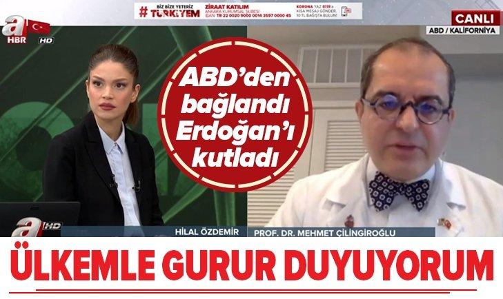 Prof. Dr. Çilingiroğlu: Türkiye ile gurur duyuyorum