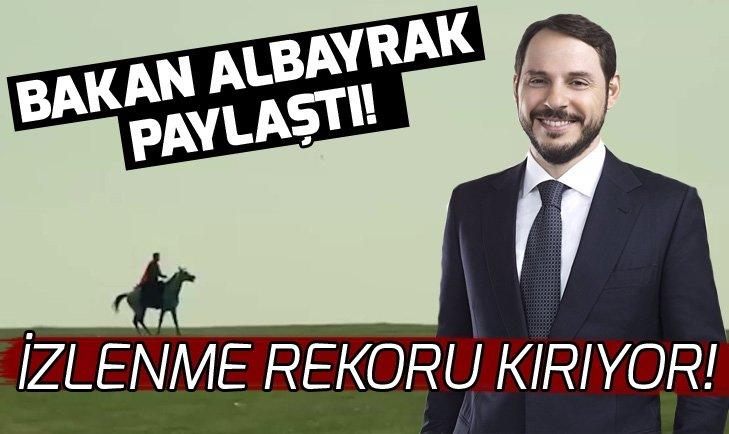 Bakan Albayrak paylaştı! Erdoğan'ın sesiyle hazırlanan #BirGençlik videosu izlenme rekoru kırıyor!