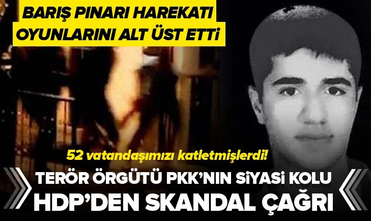 HDP'DEN BARIŞ PINARI HAREKATI SONRASI SKANDAL ÇAĞRI