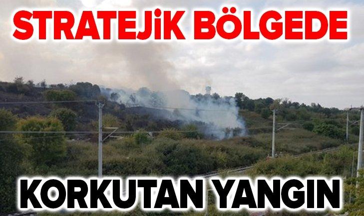 Stratejik bölgede korkutan yangın