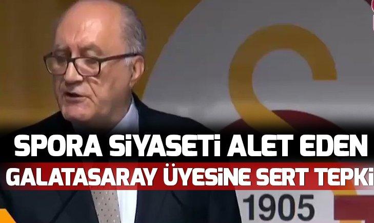 Spora siyaseti alet eden Galatasaray Divan Kurulu Üyesi Hayri Kozak'a tepki çığ gibi