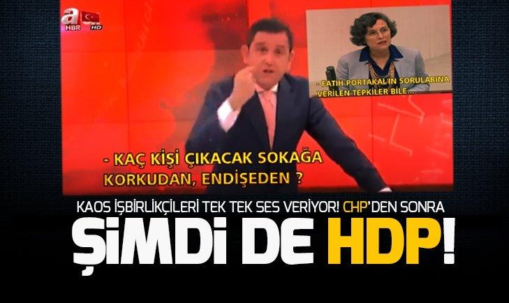 HDP'den Fatih Portakal'ın provokasyonuna destek verdi!