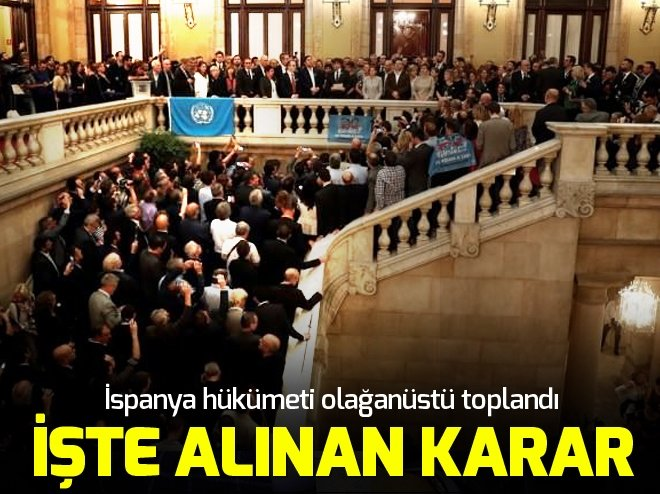 İSPANYA'DAN KATALONYA KARARI! FESHETTİLER