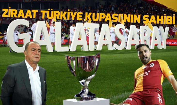 Galatasaray, Akhisarspor'u mağlup ederek Ziraat Türkiye Kupası'nın sahibi oldu