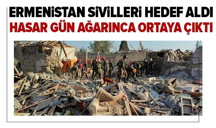 Ermeniler sivilleri vurdu! Hasar gün ağarınca ortaya çıktı