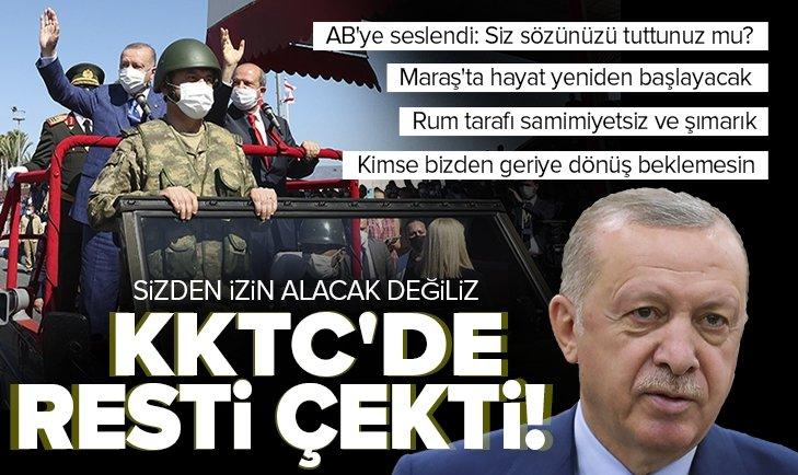 Son dakika: Başkan Erdoğan'dan Kıbrıs Barış Harekatı'nın 47'nci yıl dönümünde önemli açıklamalar