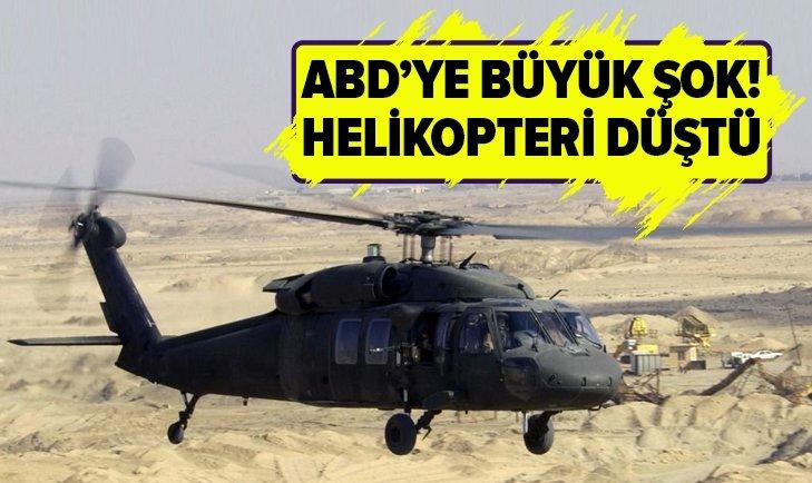 AFGANİSTAN'DA ABD'YE AİT ASKERİ HELİKOPTER DÜŞTÜ!