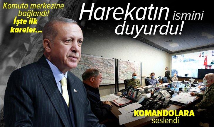 Başkan Erdoğan harekatın adını açıkladı