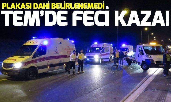 TEM'DE FECİ KAZA