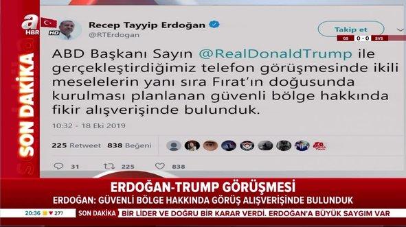 Trump ile görüşme sonrası Erdoğan'dan ilk açıklama