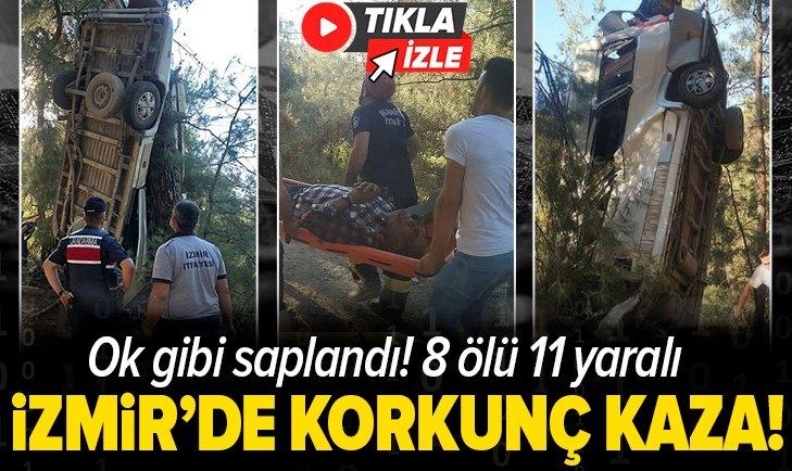 Son dakika: İzmir'de servis şarampole yuvarlandı! 8 ölü 11 yaralı