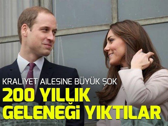 Kate Middleton ve Prens William 200 yıllık tabuyu devirdi