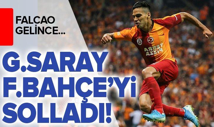 GALATASARAY FENERBAHÇE'Yİ SOLLADI! FALCAO GELİNCE...