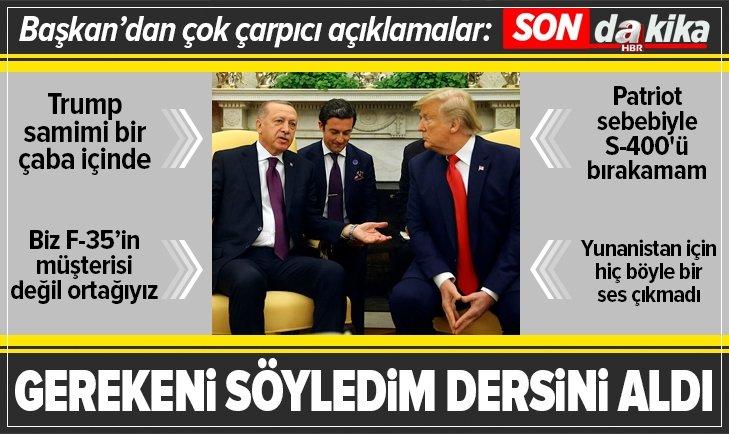Başkan Erdoğan ABD dönüşü uçakta gazetecilerin sorularını yanıtladı
