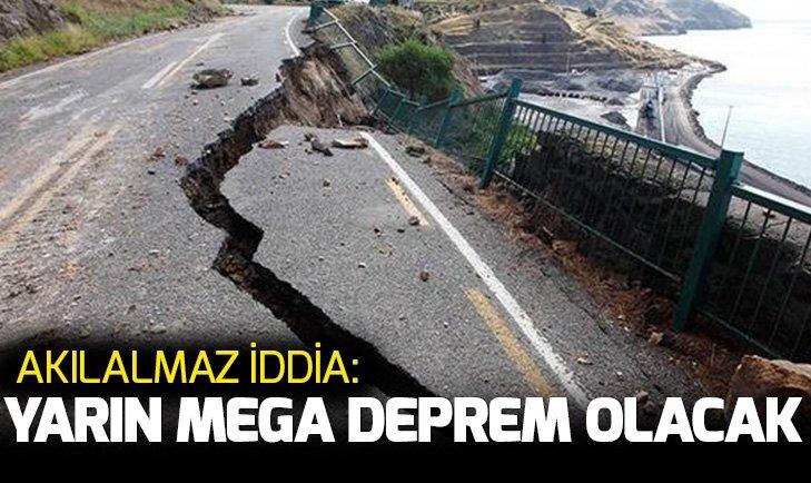 Mega deprem için olay iddia