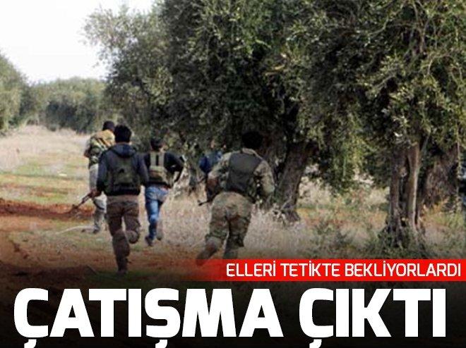 AZEZ- AFRİN SINIRINDA YPG İLE ÖSO ARASINDA ÇATIŞMA