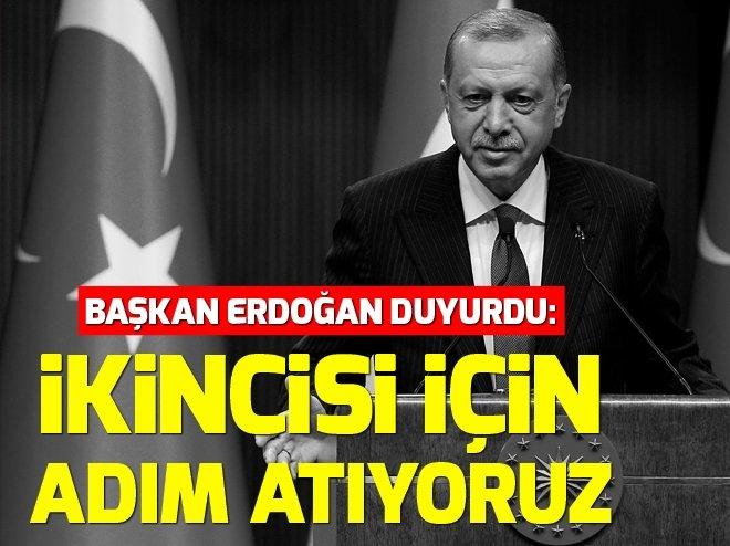 Başkan Erdoğan, canlı yayında duyurdu: İkincisi için adım atıyoruz