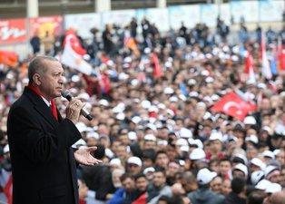 Başkan Erdoğan'ın Malatya mitinginden dikkat çeken kare