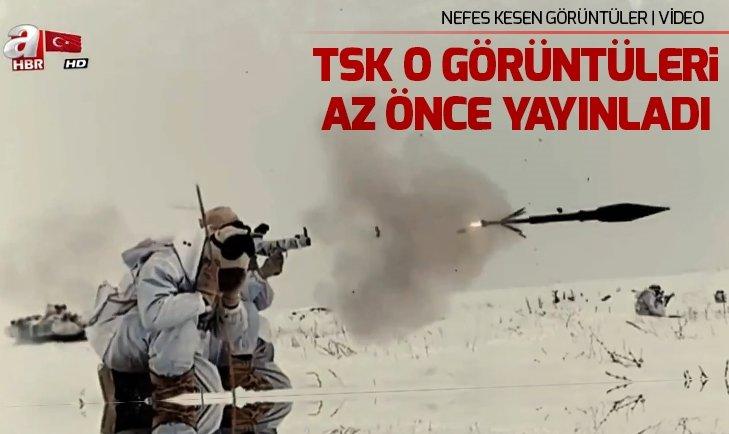 Mehmetçik'ten nefes kesen kış tatbikatı | Video