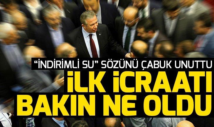Ankara'da Mansur Yavaş'ın ilk icraatı danışman maaşı