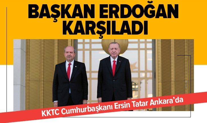 KKTC Cumhurbaşkanı Tatar Ankara'da