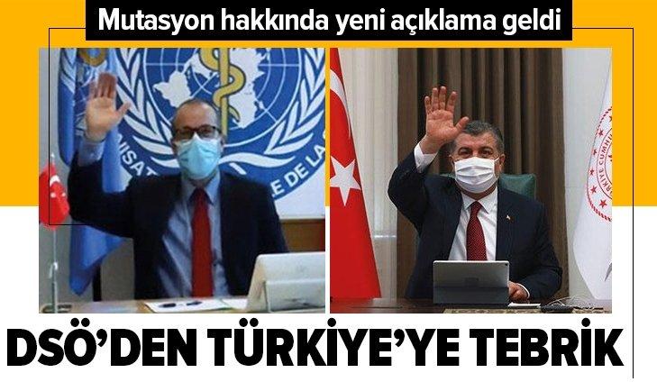DSÖ'den Türkiye'ye tebrik