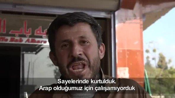 Suriyeli halktan Mehmetçiğe teşekkür!