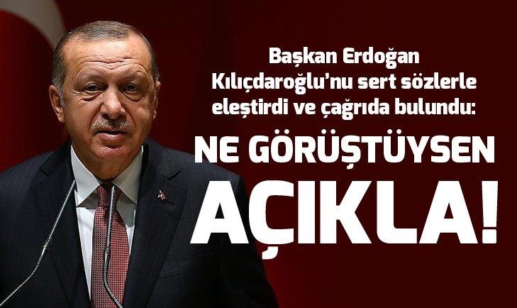Başkan Erdoğan'dan Kılıçdaroğlu'na çağrı: Almanya'da ne görüştüğünü açıkla