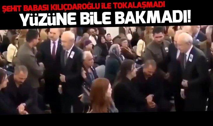 Şehit babası Kılıçdaroğlu'yla tokalaşmadı!