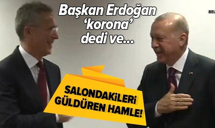 Başkan Erdoğan - Stoltenberg görüşmesinde güldüren anlar!