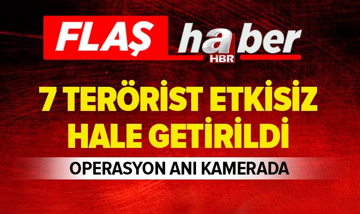 7 PKK'LI TERÖRİSTİN ETKİSİZ HALE GETİRİLDİĞİ OPERASYON GÖRÜNTÜLERİ