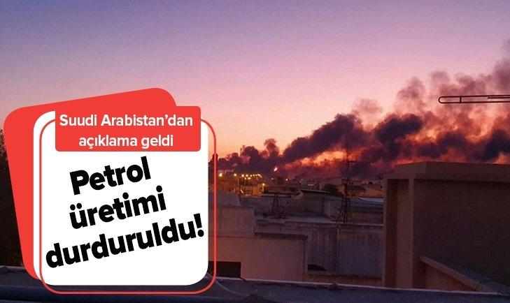 SUUDİ ARABİSTAN PETROL ÜRETİMİNİ DURDURDU!