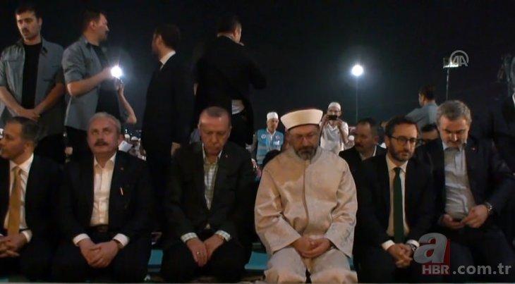 """Başkan Erdoğan, Yenikapı'da """"Enderun Teravihi"""" programına katıldı"""