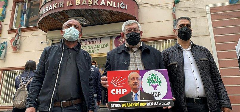 CHP Genel Başkanı Kemal Kılıçdaroğlu'nun kardeşi de evlat nöbetine katıldı! Ağabeyimi HDP'den istiyorum