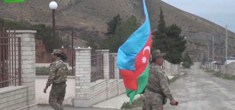 Dağlık Karabağ'da kurtarılan köylerde ezan okunmaya başlandı! Bazı bölgelerde bayraklar asıldı