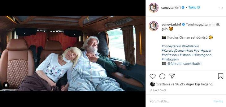 Cüneyt Arkın'ın Kuruluş Osman paylaşımı sosyal medyayı salladı!
