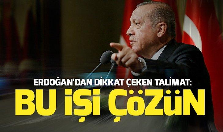 Başkan Erdoğan, Sağlık ve Gıda Politikaları Kurulu'nda talimatı verdi: Bu işi çözün