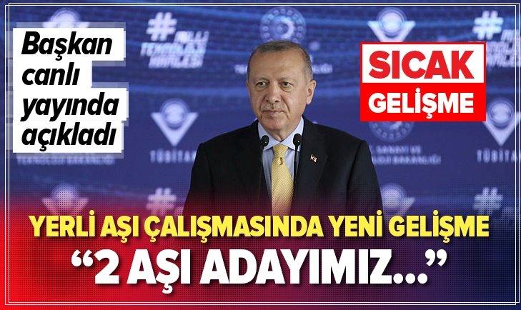 Başkan Erdoğan'dan Kovid-19 aşısı için flaş açıklama