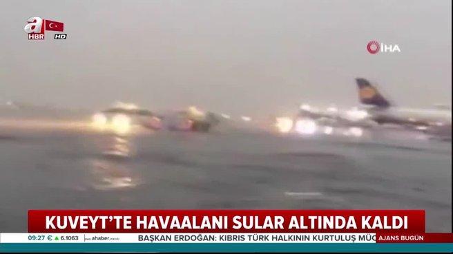 Havaalanı sular altında kaldı
