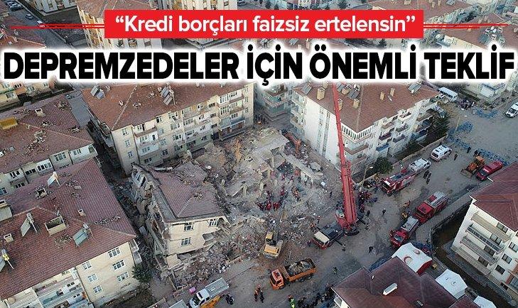 DEPREMZEDELER İÇİN ÖNEMLİ TEKLİF!