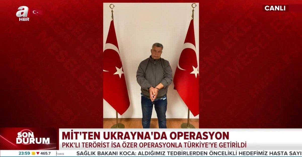 MİT'ten tarihi operasyon: PKK'lı terörist İsa Özer Türkiye'ye getirildi
