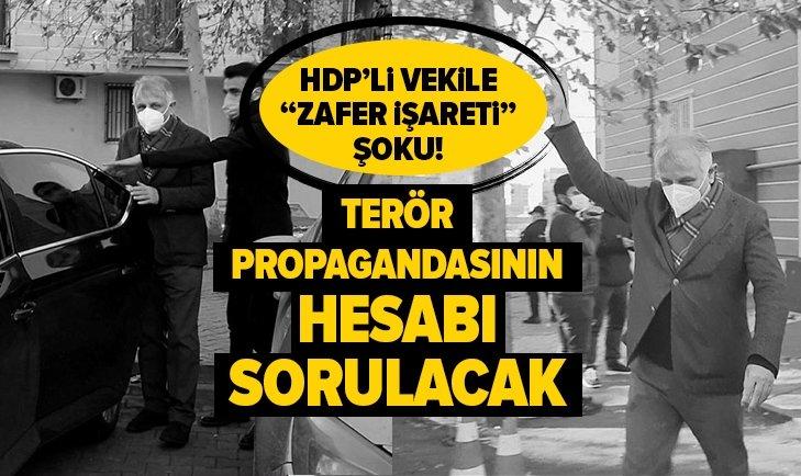 HDP'li vekile zafer işareti şoku!