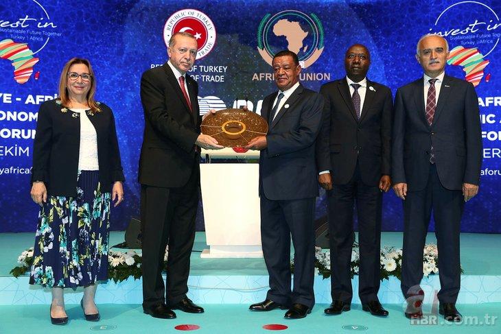 Başkan Erdoğan ile Etiyopya Cumhurbaşkanı'ndan samimi görüntüler