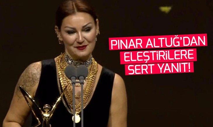 Pınar Altuğ'dan eleştirilere sert yanıt