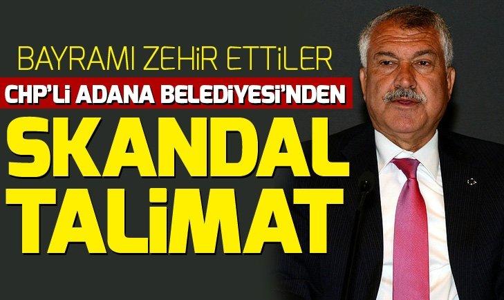 CHP'li Adana Belediyesi'nden skandal