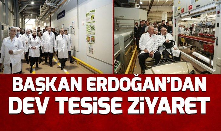 Başkan Erdoğan, Eskişehirde, ETİ Fabrikasını ziyaret etti