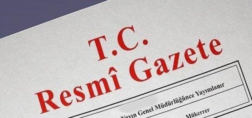 TEZKERE RESMİ GAZETE'DE YAYIMLANDI